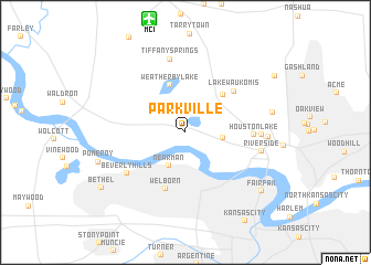 map of Parkville