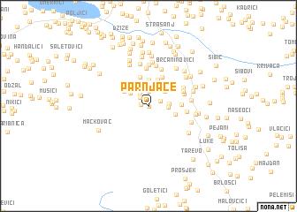 map of Parnjače
