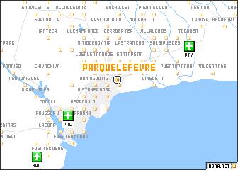 map of Parque Lefevre