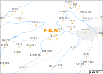 map of Pārupe