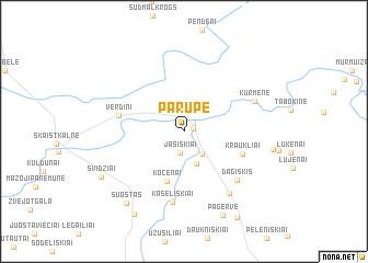 map of Parupė
