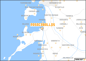map of Pasacaballos