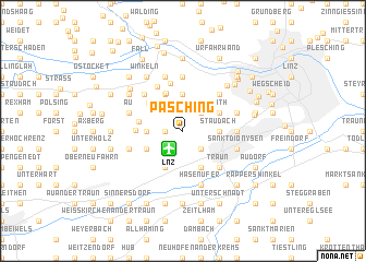 map of Pasching