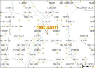 map of Păsculeşti