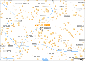 map of Pašić Han