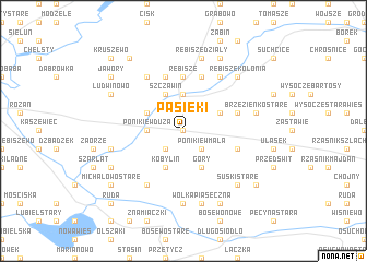 map of Pasieki