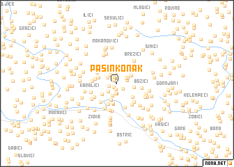 map of Pašin Konak