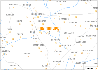 map of Pašino Ruvci