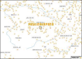 map of Paškina Kafana