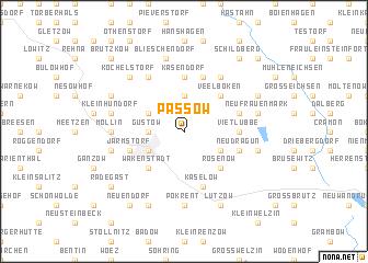 map of Passow