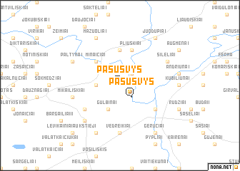 map of Pašušvys