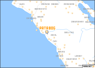 map of Patabog