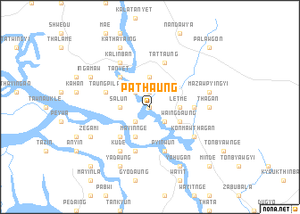 map of Pathaung
