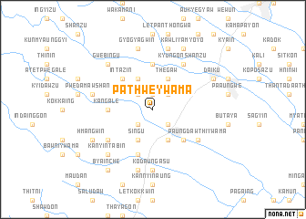 map of Pathwè Ywama