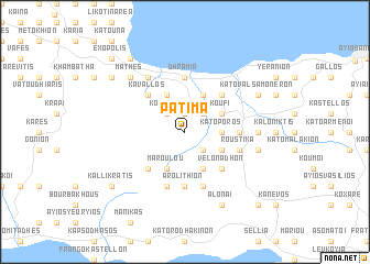 map of Pátima