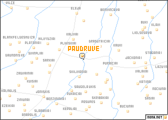 map of Paudruvė