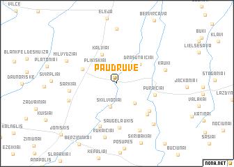 map of Paudruvė