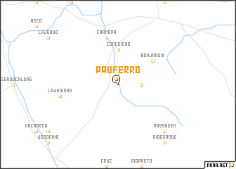 map of Pau Ferro