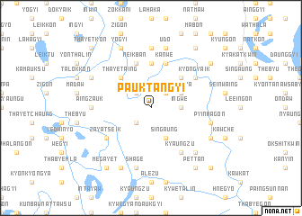 map of Pauktangyi