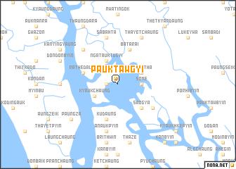 map of Pauktawgyi