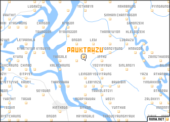 map of Pauktawzu