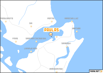 map of Paulas