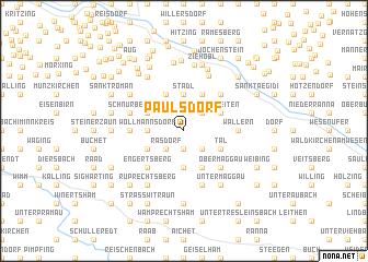 map of Paulsdorf
