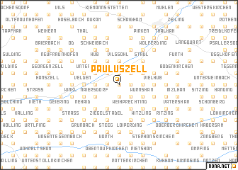 map of Pauluszell