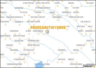 map of Paungdawthi Ywama