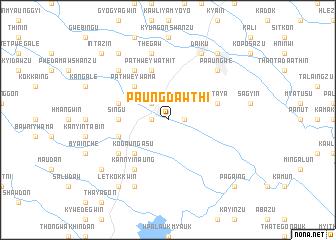 map of Paungdawthi