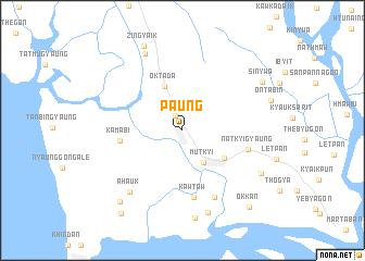 map of Paung