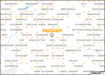 map of Pausdorf