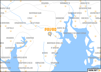 map of Pavão