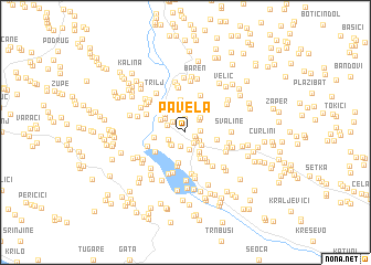 map of Pavela