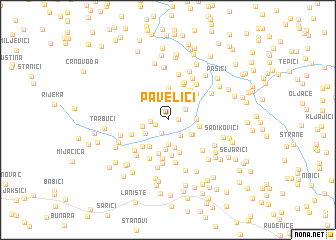 map of Pavelići