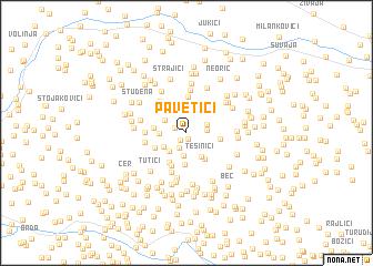 map of Pavetići