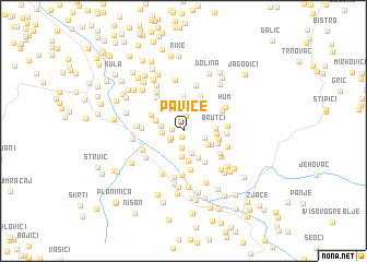 map of Pavice