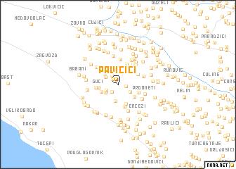 map of Pavičići