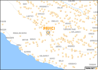 map of Pavići