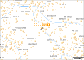 map of Pavlovići