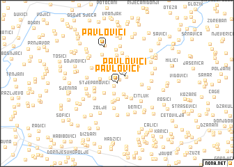 map of Pavlovići