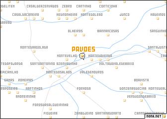 map of Pavões