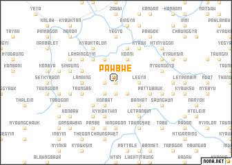 map of Pawbwe