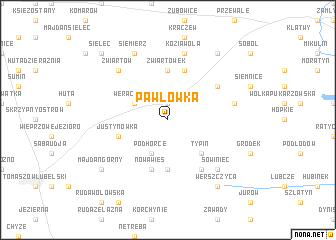 map of Pawłówka