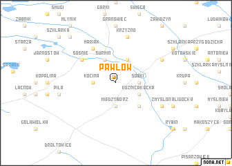 map of Pawłów