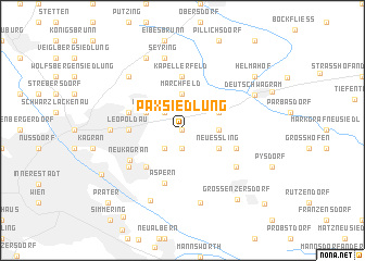 map of Paxsiedlung
