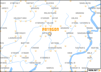 map of Payāgon