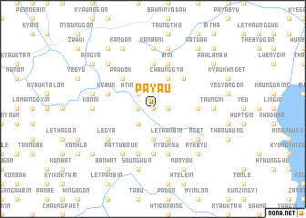 map of Paya-u