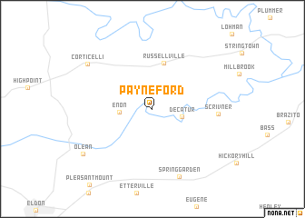 map of Payne Ford