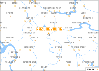 map of Pazungyaung